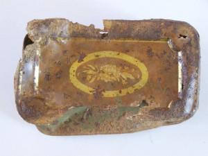 Κουτί κονσέρβας του Α΄ΠΠ που βρέθηκε μέσα σε βουλγάρικη στοά στη περιοχή του Ντοπροπόλε.