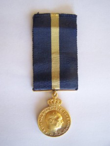 Μετάλλιο του Γεωργίου του Β' δι ευδόκιμον υπηρεσίαν. Δωρεά του φίλου Πέτρου Παπακυριακού