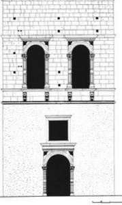 Η πρόσοψη του κτηρίου σε σχέδιο του Ι. Δημακόπουλου.